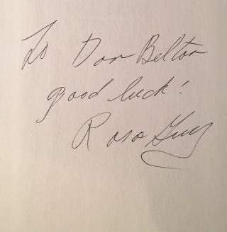 The Sun, The Sea, A Touch of the Wind (SIGNED ASSOCIATION COPY - Signed to Don Belton)