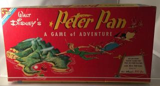 Original and Complete 1953 Walt Disney 'Peter Pan Game'; IN ORIGINAL BOX! Board Games, J. M. BARRIE, Walt DISNEY.