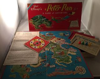 Original and Complete 1953 Walt Disney 'Peter Pan Game'; IN ORIGINAL BOX!