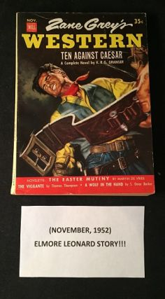 "Zane Grey's Western Magazine - November, 1952 (ELMORE LEONARD ""The Colonel's Lady""). Elmore..."