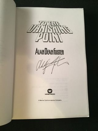 To the Vanishing Point (SIGNED ADVANCE READING COPY)