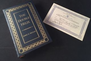 The Double Helix (SIGNED/LIMITED/LEATHER). James WATSON