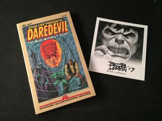 Daredevil: The Man Without Fear! (w/ Bob Larkin Signed Bookplate). Stan LEE, Bob LARKIN, et all