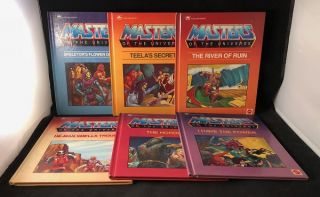 HE-MAN Masters of the Universe COMPLETE SIX VOLUME 1ST PRINTING GOLDEN BOOK RUN (1985). Bryce KNORR