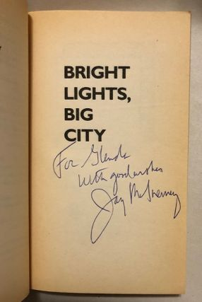 Bright Lights, Big City (SIGNED 1ST OFFICIAL MOVIE TIE-IN)