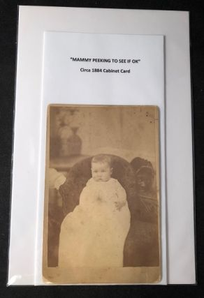 "Circa 1884 African American ""Mammy"" Cabinet Card Photograph. BLACK AMERICANA INTEREST."
