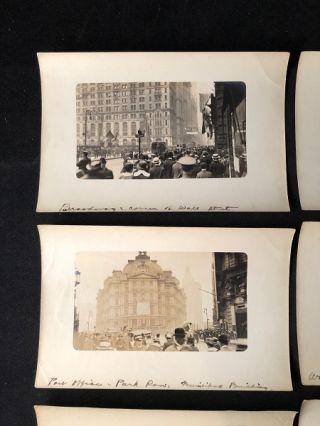 Lot of 6 (SIX) Original WWI Era Silver Gelatin Photographs of New York City (Wall Street)