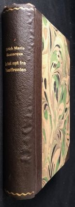 Intet Nyt Fra Vestfronten (FIRST DANISH EDITION OF ALL QUIET ON THE WESTERN FRONT). Literature, Erich Maria REMARQUE.
