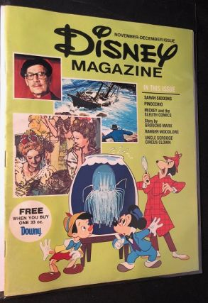 Disney Magazine -November/December, 1976. Walt DISNEY, Vincent JEFFERDS, Groucho MARX, et all