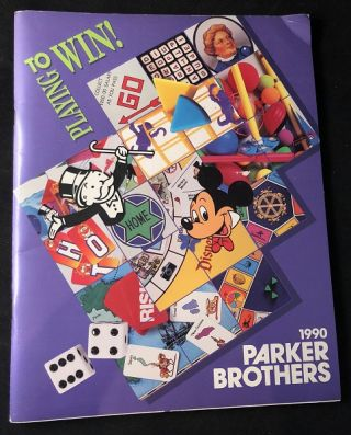 1990 Parker Brothers Official Catalog of Products. Toys, Games