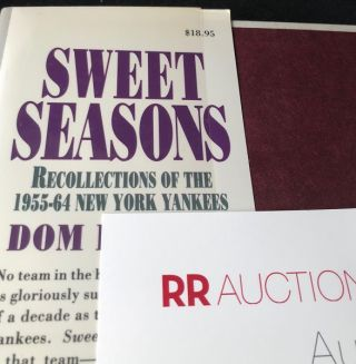 Sweet Seasons: Recollections of the 1955-64 New York Yankees (SIGNED X 32 PLAYERS)