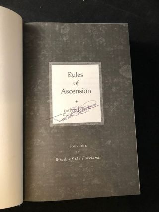 Rules of Ascension (SIGNED FIRST PRINTING)