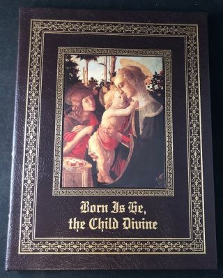 Born is He, the Child Divine (The Childhood of Christ). Leather, Amy GEBLER.