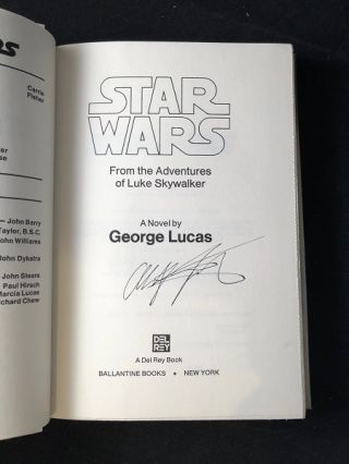 Star Wars: From the Adventures of Luke Skywalker (SIGNED 1ST TRADE EDITION); Original price of $6.95!