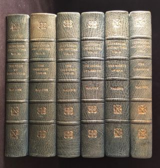 Jefferson and His Time (FINELY BOUND SIX VOLUME SET). Dumas MALONE
