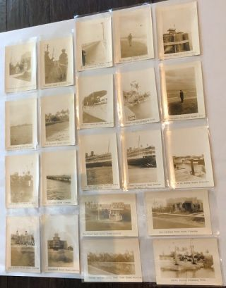 Lot of 21 Circa 1930's Annotated Original Photographs of Florida Trip (St. Petersburg & Miami)....