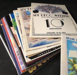 Archive of 13 Original MIAMI ART DECO WEEKEND PROGRAMS (1986-2001)
