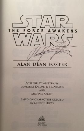 Star Wars: The Force Awakens (Signed First Printing)