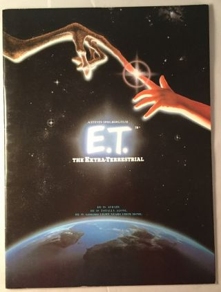 E.T. The Extra-Terrestrial (OFFICIAL UK SOUVENIR PROGRAM). Steven SPIELBERG, William KOTZWINKLE, Meliissa MATHISON.