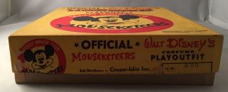 Official Walt Disney's MOUSEKETEERS Costume Playoutfit (IN ORIGINAL BOX)