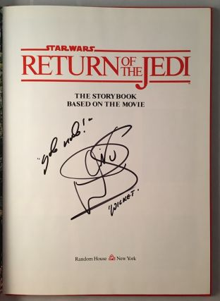 Star Wars: Return of the Jedi (SIGNED BY WARWICK DAVIS)