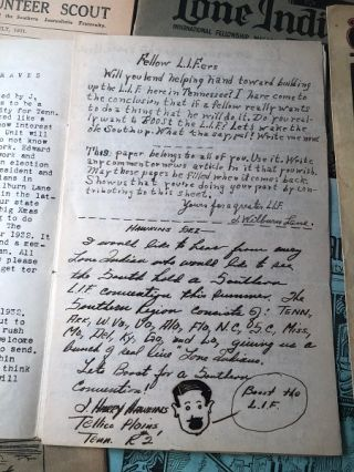 Small Archive of early Boy Scouts, Lone Scouts of America, Dixie Guards & Volunteer Scout ORIGINAL Logs and Published Material (1924-1934); OVER A DOZEN ITEMS INCLUDING TWO HANDWRITTEN AND ILLUSTRATED DIARIES/LOGS