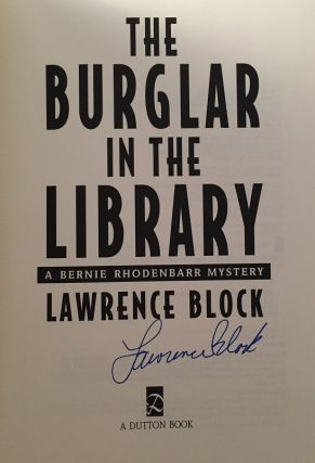 The Burglar in the Library (Signed First Edition)