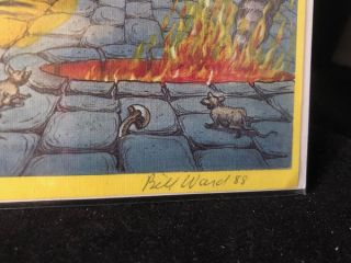 SIGNED Original Cover PROOF of the 1978 Overstreet Comic Book Price Guide