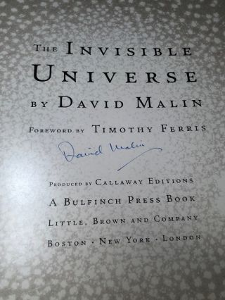The Invisible Universe (SIGNED BY AUTHOR)