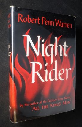 Night Rider (SIGNED 1ST THUS). Robert Penn WARREN