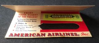 Circa 1940's American Airlines Wrigley's Chewing Gum Advertising Hand-Out
