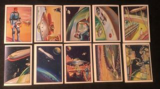"1962 Mister Softee Complete 10 Card Set ""Adventures of Captain Chapel"" (Issued in the same year..."