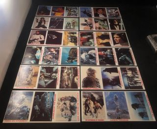 1980 Burger King STAR WARS Trading Card Complete Set of 36 (ON ORIGINAL UNCUT SHEETS AS ISSUED)....