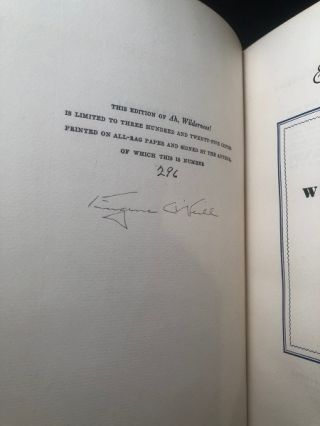 Ah, Wilderness (#296 of 325 SIGNED LIMITED COPIES)