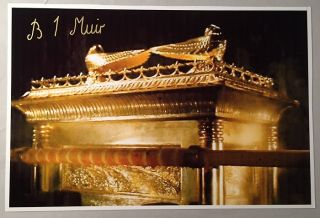 Glossy Oversized photograph of the Ark of the Covenant from Raiders of the Lost Ark; SIGNED BY...