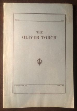The Oliver Torch. Vol. 1, No. 1 (The Oliver Street Colored School). E. S. TAYLOR, et all