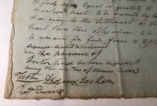 Early 1789 Andrew Jackson Signed Document (Pre-TN Statehood)