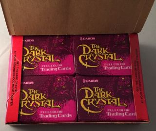 1982 The Dark Crystal UNOPENED WAX BOX; (36 Unopened wax packs)