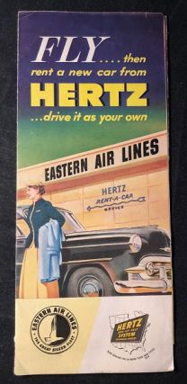 1953 Eastern Air Lines & Hertz Car Rental Brochure (CUBA INTEREST). EASTERN AIR LINES