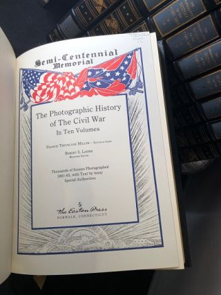 The Photographic History of the Civil War 10 VOLUME LEATHER SET
