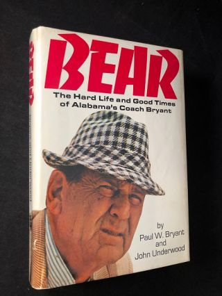 BEAR: The Hard Life and Good Times of Alabama's Coach Bryant; NASHVILLE, TN FBI FIELD OFFICE GIFT...
