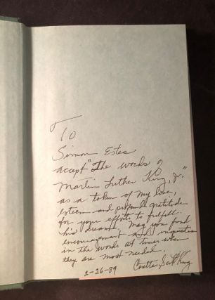 The Words of Martin Luther King Jr. (SIGNED ASSOCIATION COPY)
