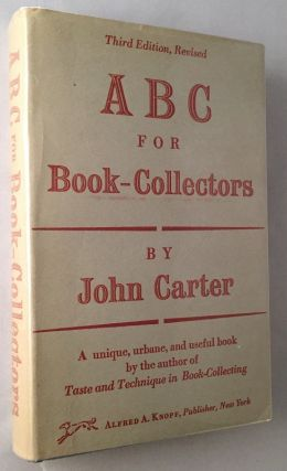ABC for Book-Collectors. Books on Books, John CARTER.