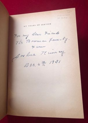 My Years of Service (SIGNED 1ST PRINTING)
