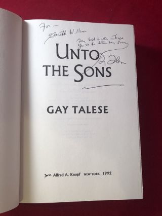 Unto the Sons (SIGNED 1ST PRINTING)