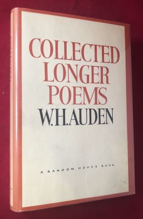 Collected Longer Poems (SIGNED AND INSCRIBED 1ST PRINTING). W. H. AUDEN