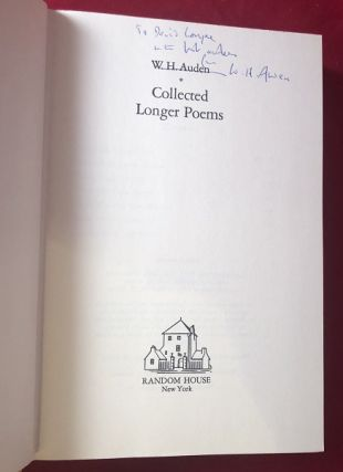Collected Longer Poems (SIGNED AND INSCRIBED 1ST PRINTING)
