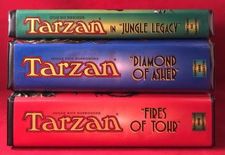 "SCARCE 1997 Audio Cassette LOT (Tarzan in ""Jungle Legacy"", ""The Diamond of Asher"" & ""The First of Tohr"")"