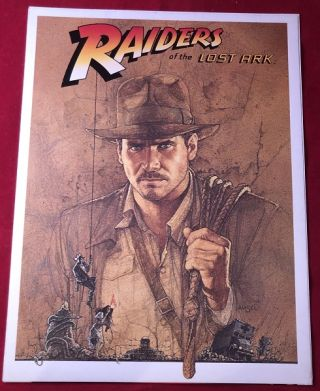 Indiana Jones and the Raiders of the Lost Ark PRE-RELEASE Theater Screening Program & Prospectus....