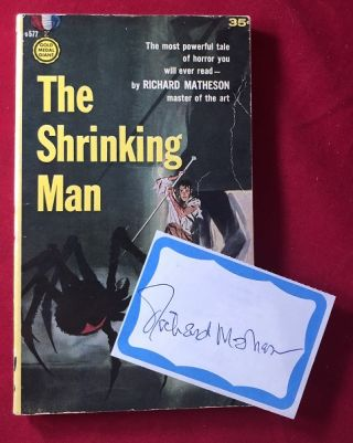 The Shrinking Man (1st PB w/ SIGNED BOOKPLATE). Richard MATHESON